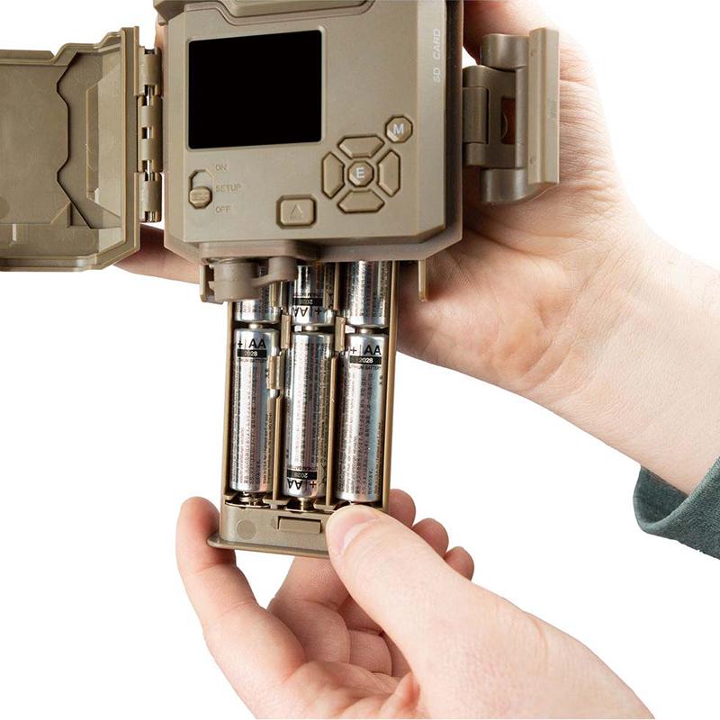 トロフィーカムXLT 30MPローグロウDC 電池ボックスの取外しが可能