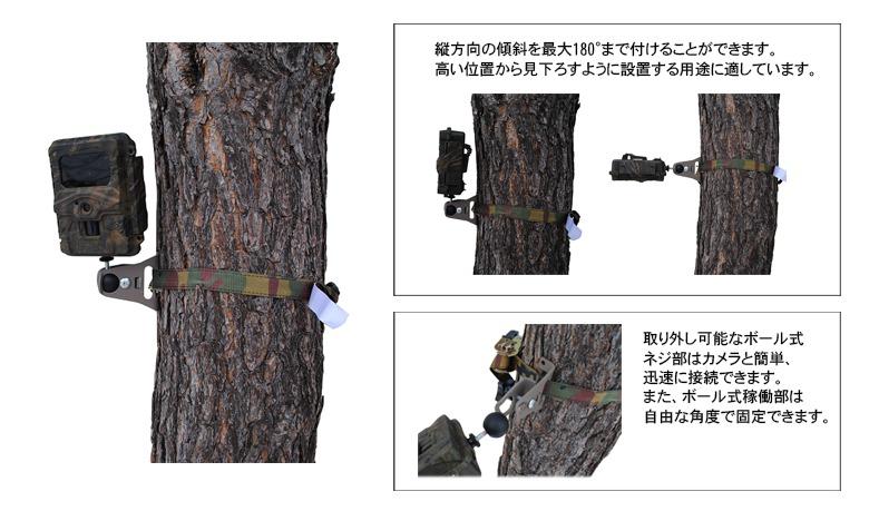 ハイクカムLT4G ダイレクトカメラブラケットセット
