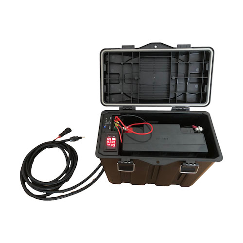 ソーラーチャージャーコントローラー&降圧コンバータ一体型防水バッテリーケース