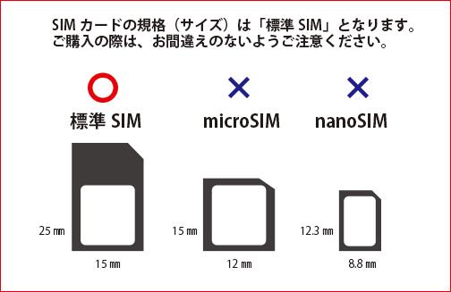 ターゲットスカウト TS4200 対応SIMカード規格