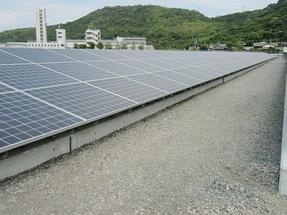 らくらく砂利下防草シート 砂利下設置 太陽光発電所